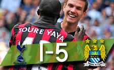 PREMIER LEAGUE | Tottenham 1-5 Manchester City