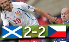 ELIMINATORIA EURO 2012   Escocia 2-2 República Checa