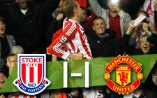PREMIER LEAGUE   Stoke 1-1 Manchester United