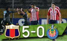 Dep. Quito 5 Chivas 0