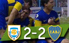 Atlético Rafaela 2-2 Boca Juniors