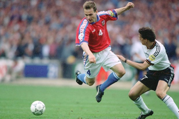 Pavel Nedved en la Euro del 96