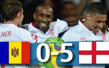 Moldavia 0-5 Inglaterra