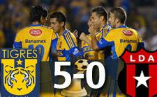 Tigres 5-0 Alajuelense