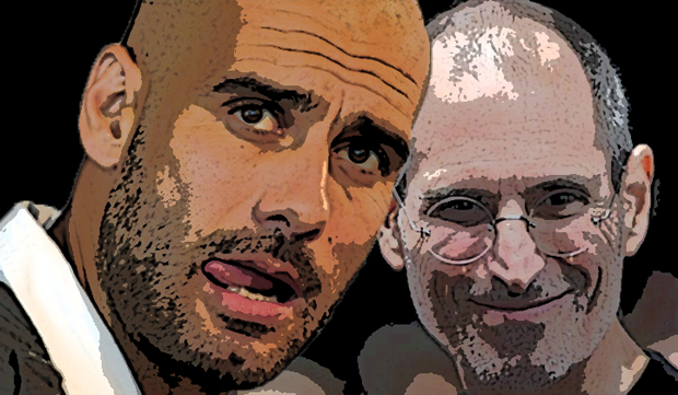 pep guardiola steve jobs