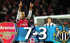 Arsenal 7-3 Newcastle