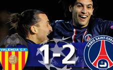 Valencia 1-2 Paris Saint-Germain