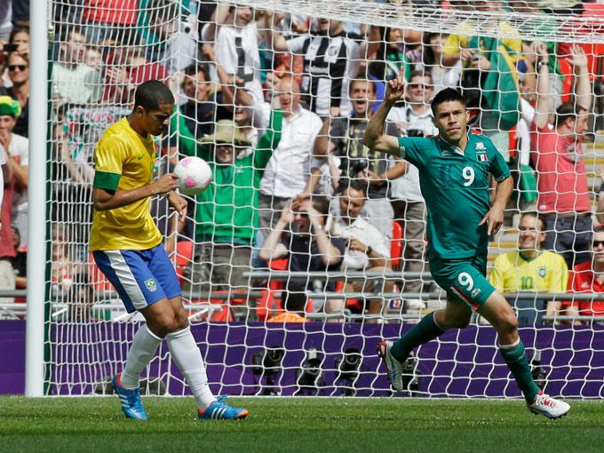 Gol de Oribe a Brasil