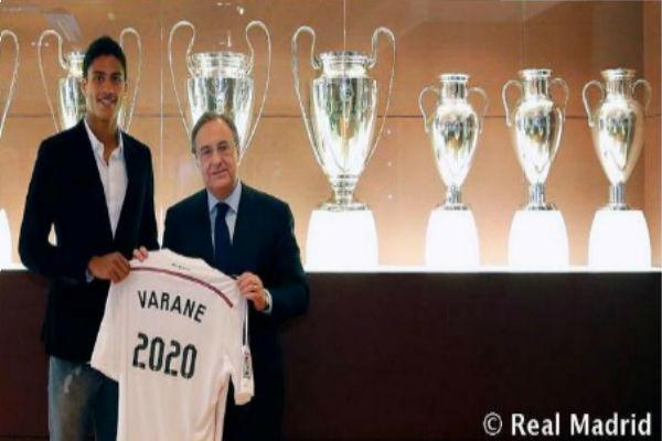 Varane renueva hasta el 2020