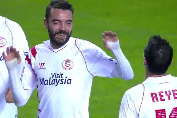 Jugador del Sevilla mete 3 goles en 4 minutos