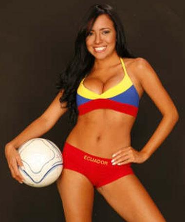 Adriana Sánchez, la sexy 'bomba' ecuatoriana