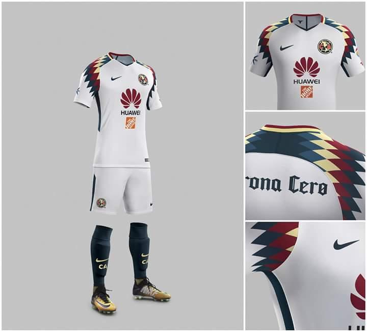 Nueva playera am rica 2018 visitante futbol sapiens for Cuarto uniforme del america 2018