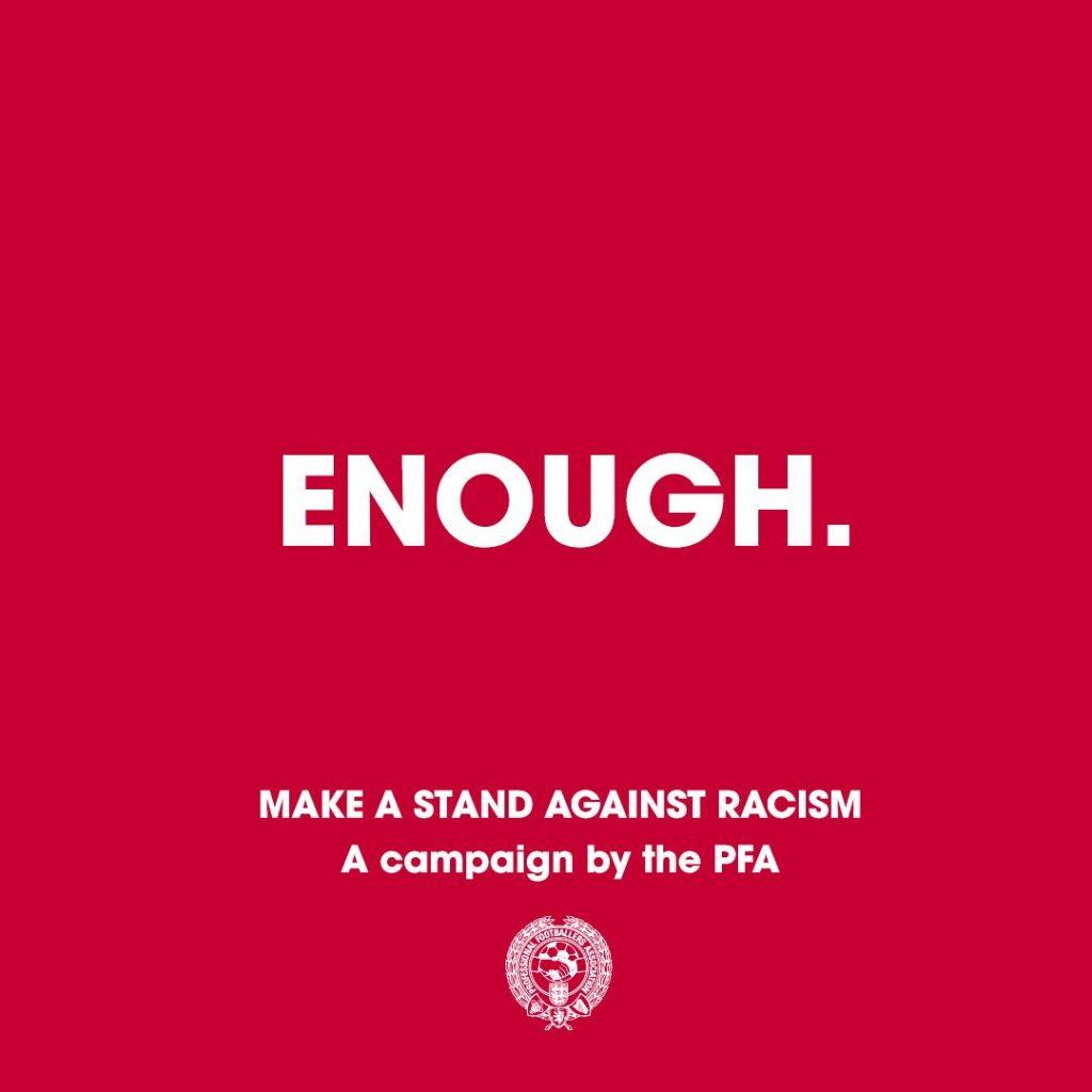 #ENOUGH, la nueva campaña para combatir el racismo en el fútbol