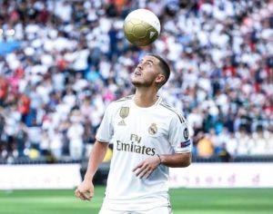 Hazard espera por su dorsal en Madrid