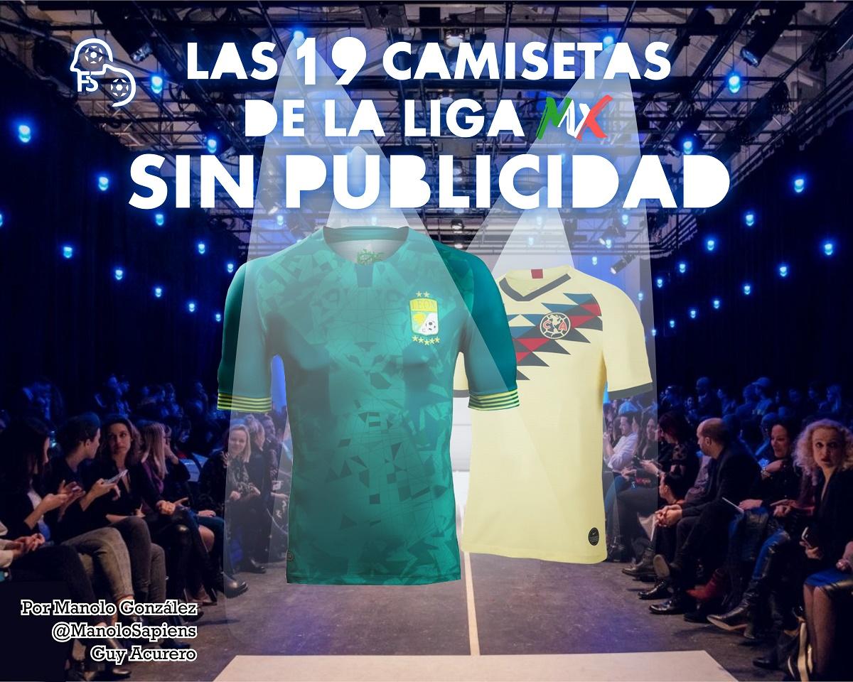 ¿Cómo se verían las camisetas de la Liga MX sin nada de publicidad?