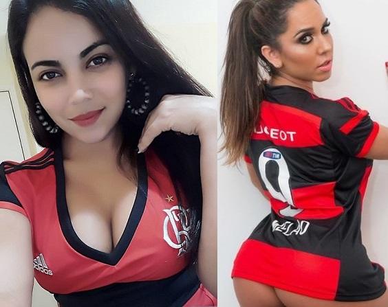 Tremendas aficionadas del Flamengo