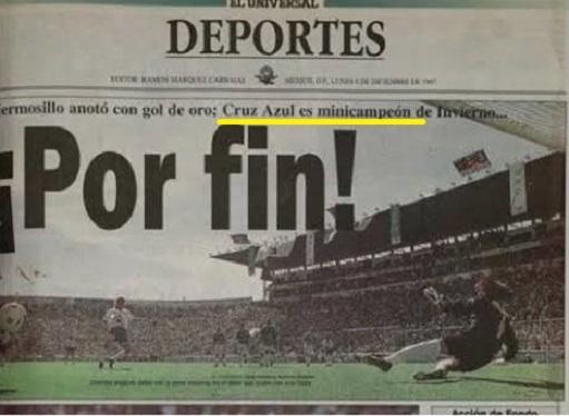 22 años del último campeonato de Cruz Azul, 22 cosas que sucedían en 1997