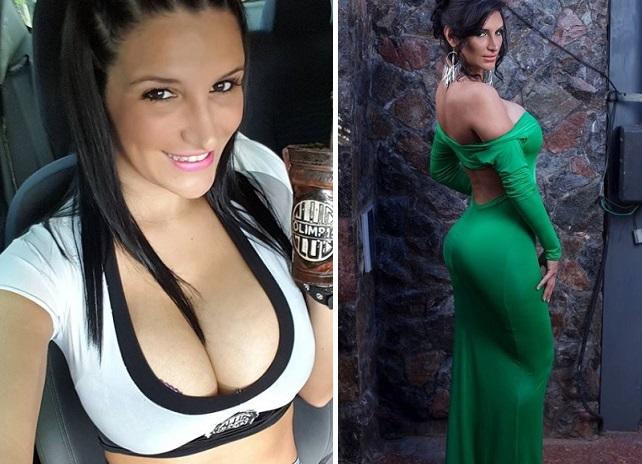 La sensual aficionada del Club Olimpia de Paraguay