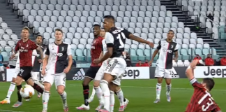 Juventus vs Milan. Copa Italia