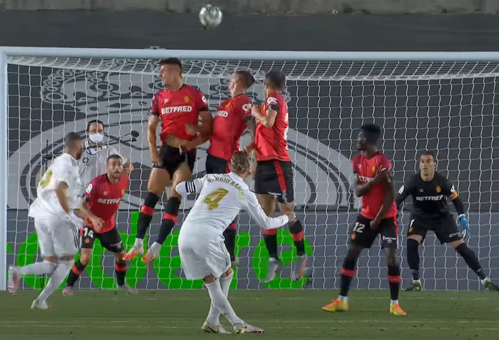 Real Madrid vs Mallorca. Sergio Ramos
